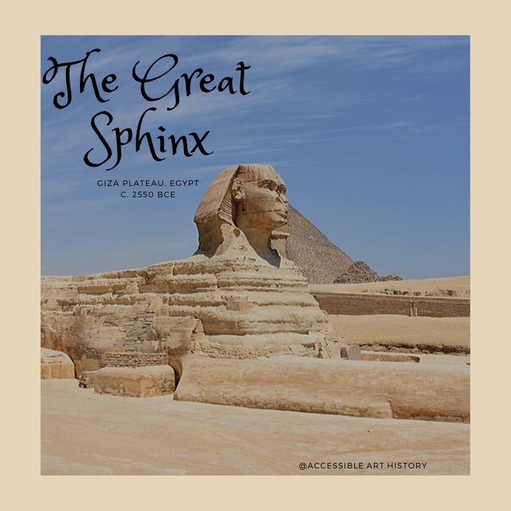 Besides the pyramids, the Great Sphinx is one of the most