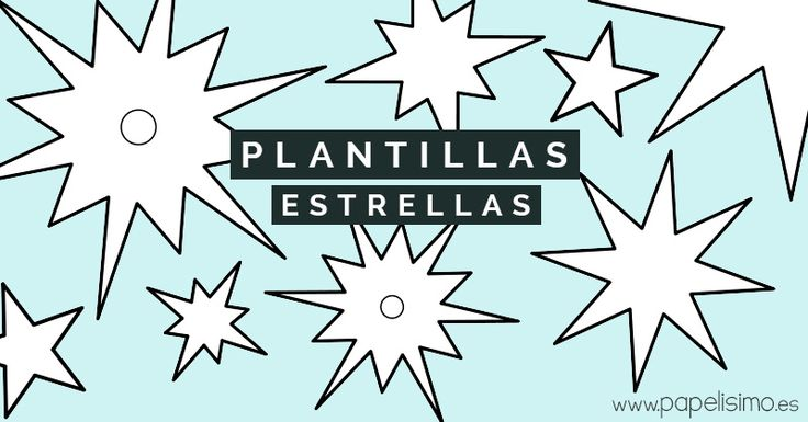 Plantillas-estrellas-para-imprimir,-colorear-y-recortar