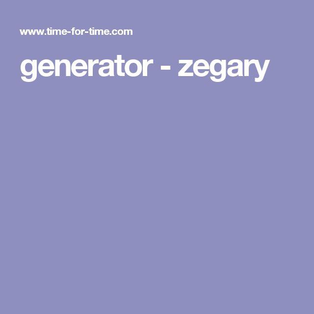 generator - zegary