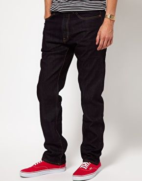 Black Chocoolate Raw Jeans With Check Turn Up