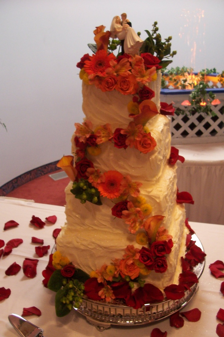 square wedding cakes with fall flowers 34 best images about wedding cakes on fall 20419