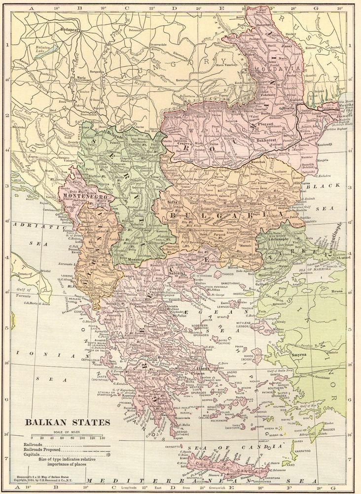 Best 25 greece map ideas on pinterest greece trip trips to 1914 antique balkan states map serbia romania bulgaria turkey greece map 4263 sciox Images