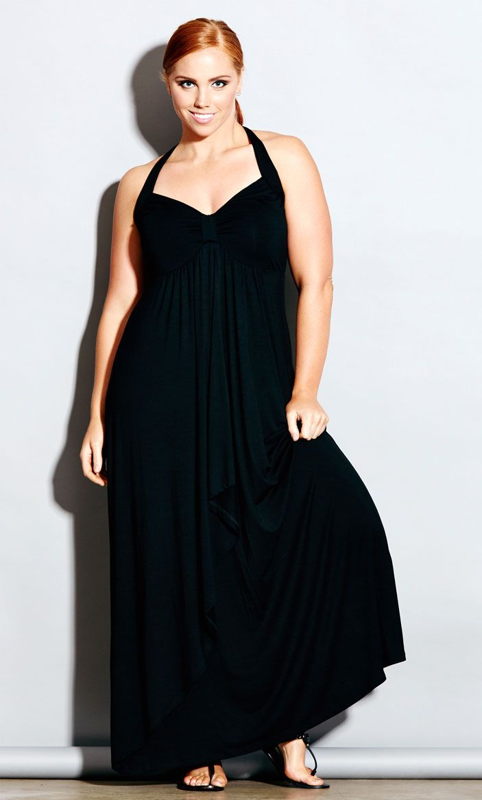 City Chic - SEYCHELLES MAXI DRESS - Women's Plus Size Fashion #citychic #citychiconline #newarrivals #plussize