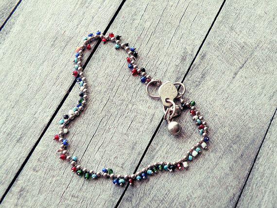 anklet bracelet silver anklet ethnic anklet Indian by CarmelaRosa