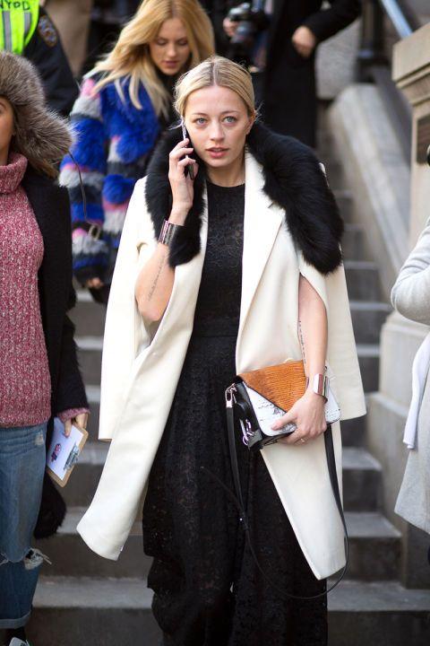 Caroline Vreeland - уличная мода осень/зима 2015-2016