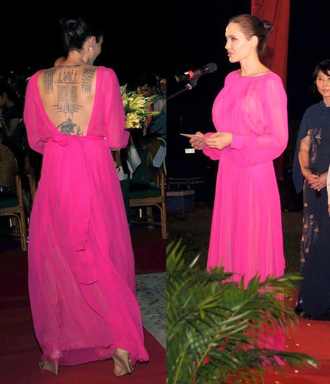 """Angelina Jolie na estreia do filme """"Primeiro eles mataram memórias do meu pai da filha de Cambodia"""" em Siem Reap"""