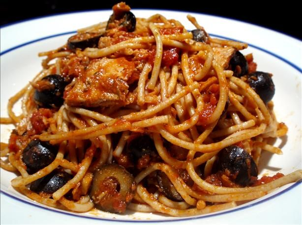 Spaghetti With Italian Tuna & Capers. Had this in Philly and have been craving it ever since.