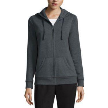 size medium jcp | Made for Life™ Long-Sleeve Basic Hooded Fleece Jacket - Tall