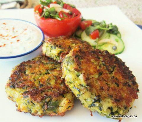 Baked Kolokithokeftedes (Κολοκυθοκεφτέδες στο φούρνο) - Kalofagas - Greek Food & Beyond - Kalofagas - Greek Food & Beyond