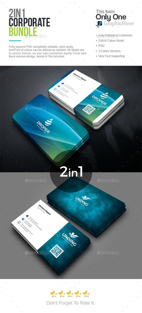 Business Card Bundle — PSD Template • Only available here ➝…