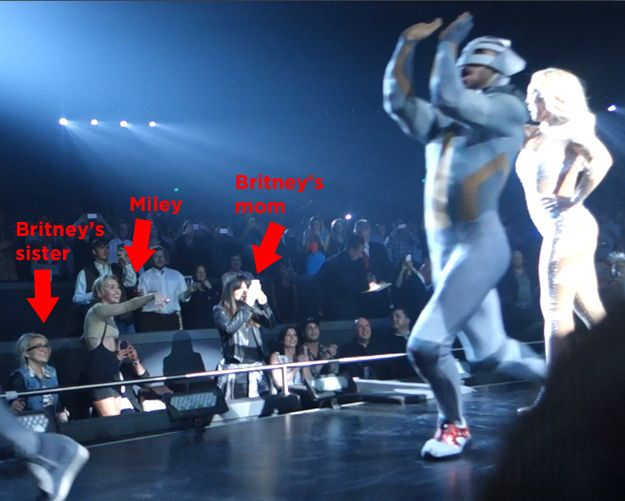 You Need To Watch Miley Cyrus Dancing At Britney Spears' Las Vegas Show