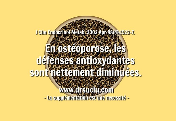 Photo Les antioxydants dans l'ostéoporose - drsuciu