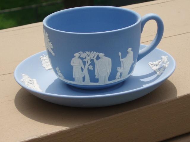 Wedgwood England Jasperware Blue Teacup Saucer Set (Spots & Dusty) | eBay