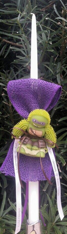 Teenage mutant ninja turtle with light up head easter candle $20