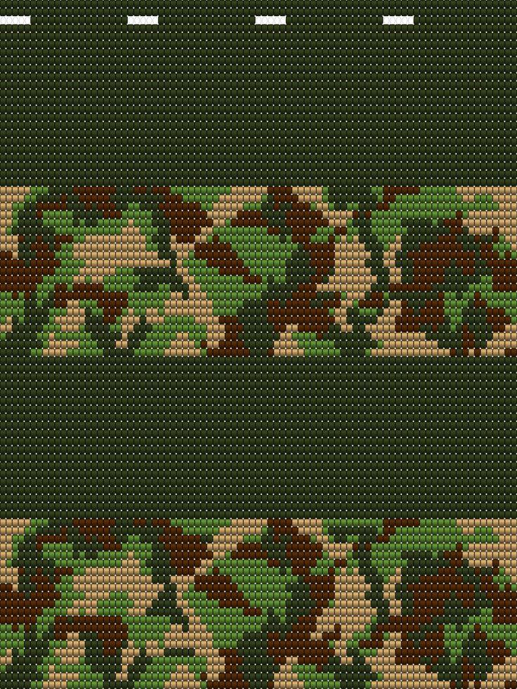 zijkant ; slaapzak tas voor soldaten heeft 85 steken en moet 4x op de bodem   voor soldaten tas gehaakt worden