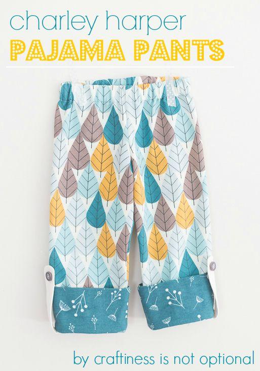 Free children's pajama pants sewing tutorial.