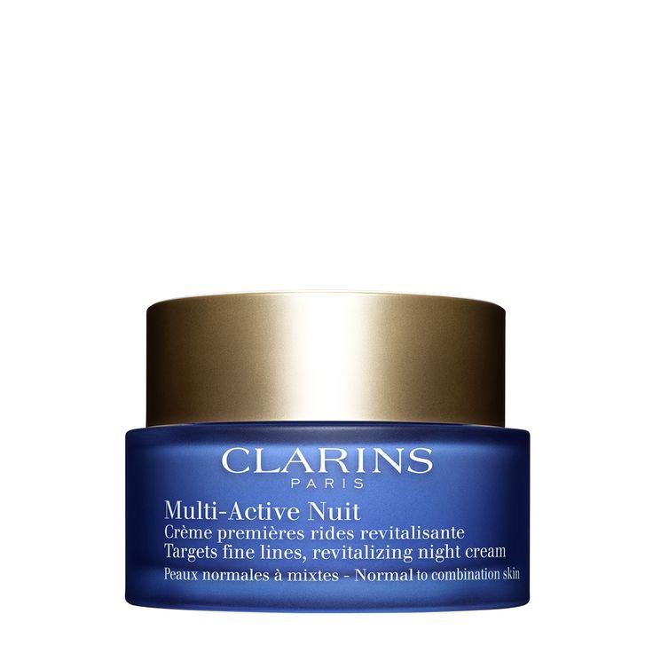 Clarins Multi-Active Ma Nuit Legere. Revitaliseert en beschermt de huid tegen de zichtbare tekenen van slaapgebrek.