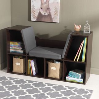KidKraft White Bookcase with Reading Nook - Overstock Shopping - The Best Prices on KidKraft Kids' Furniture