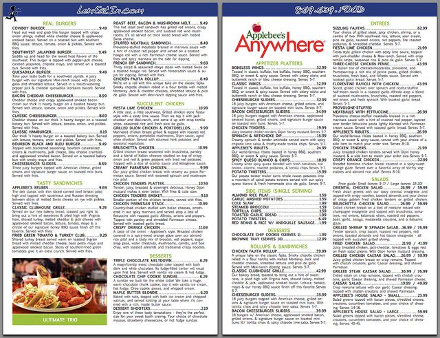 photo about Applebees Printable Menus identify Applebees+Menu+Printable+Variation+with+Charges Black bean