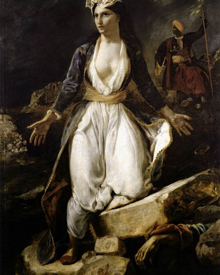 Greece on the Ruins of Missolonghi by Eugene Delacroix