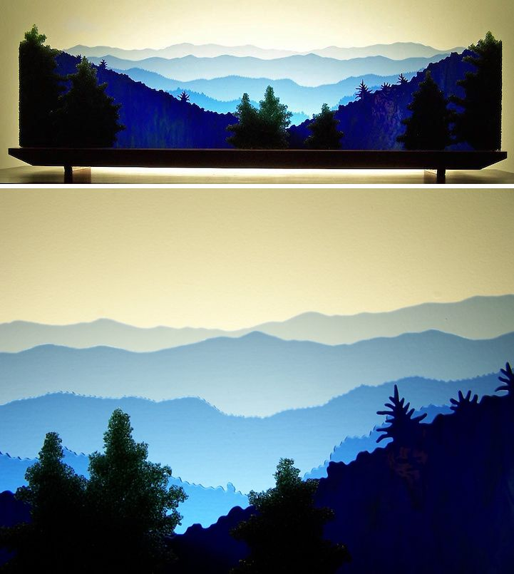 Art from layers of glass  http://www.mymodernmet.com/profiles/blogs/stone-ridge-glass-landscapes-art