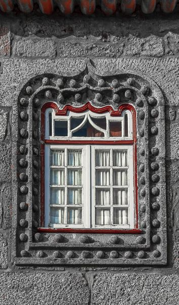 Detail of a wooden window in a stone house at Linhares da Beira, Historical Village #Portugal - website: www.enjoyportugal.eu/historical-villages.html