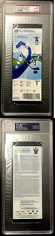 Hockey-Team Canada 2868: 2010 Vancouver Olympics Hockey Canada Gold Medal Game Ticket Psa Dna Slabbed -> BUY IT NOW ONLY: $559.99 on eBay!