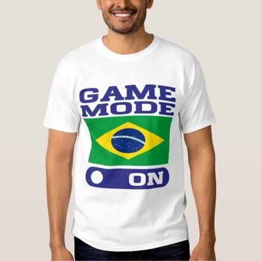(GAME MODE ON BRAZIL 2016 T-SHIRT) #2016 #Brazil #Game #Mode is available on Funny T-shirts Clothing Store   http://ift.tt/2dKyF3g
