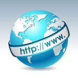 Globo con internet address Fotografía de archivo libre de regalías