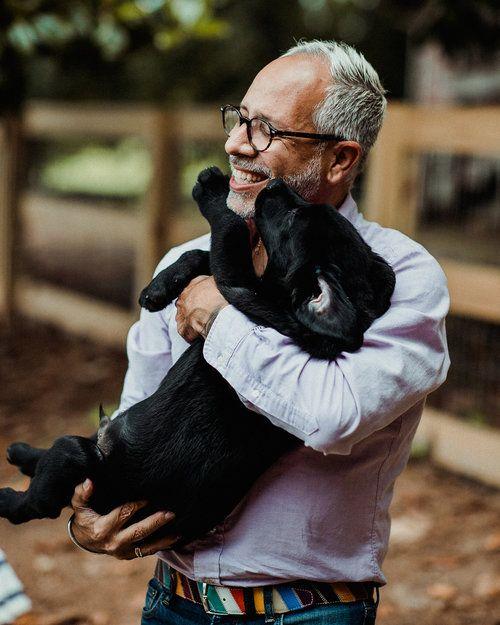 E. Vincent Martinez & puppy Vincent at Canine Assistants.