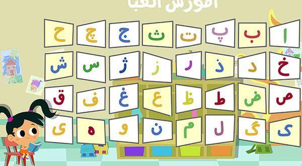 حروف الفبای فارسی به ترتیب از الف تا ی Persian Alphabet Numbers Preschool Alphabet