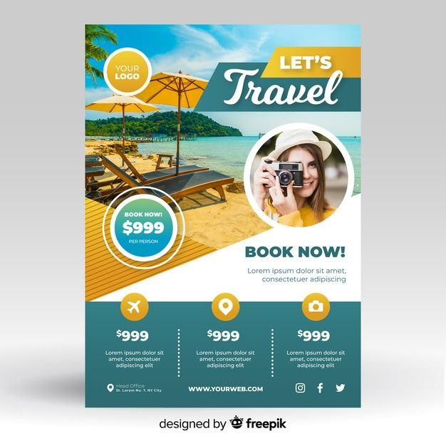 Download Travel Flyer Template With Photo For Free Travel Flyer Travel Poster Design Flyer And Poster Design