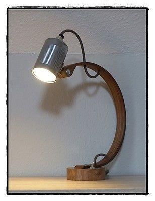 Perfect Designer Holzlampe Schreibtischlampe Unikat LED Lampe