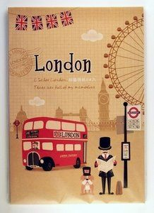 London UK letter paper pad (bus)  - available at www.stationeryheaven.nl