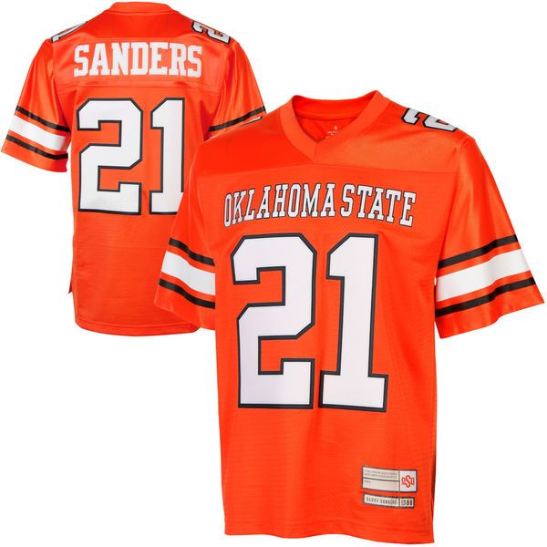 Barry Sanders Oklahoma State Cowboys #21 Retired NFL Player College Jersey - Orange - $94.99