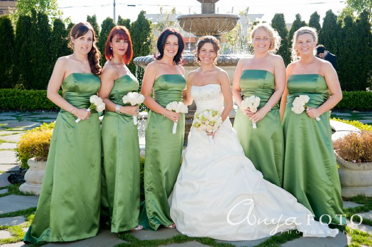 anyafoto.com, bridesmaids, bridesmaid dresses, green bridesmaid dress, long bridesmaid dresses, satin bridesmaid dresses