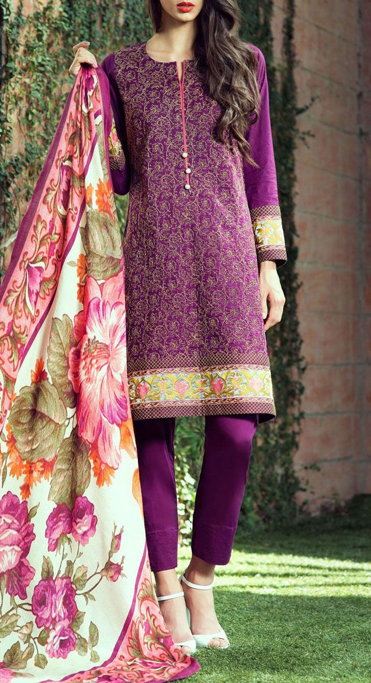 Buy Purple Embroidered Cotton Crepe Salwar Kameez by Bonanza 2015 Email: Info@PakRobe.com www.pakrobe.com https://www.pakrobe.com/Women/Clothing/Buy-Winter-Salwar-Kameez-Online #Winter_Salwar_kameez