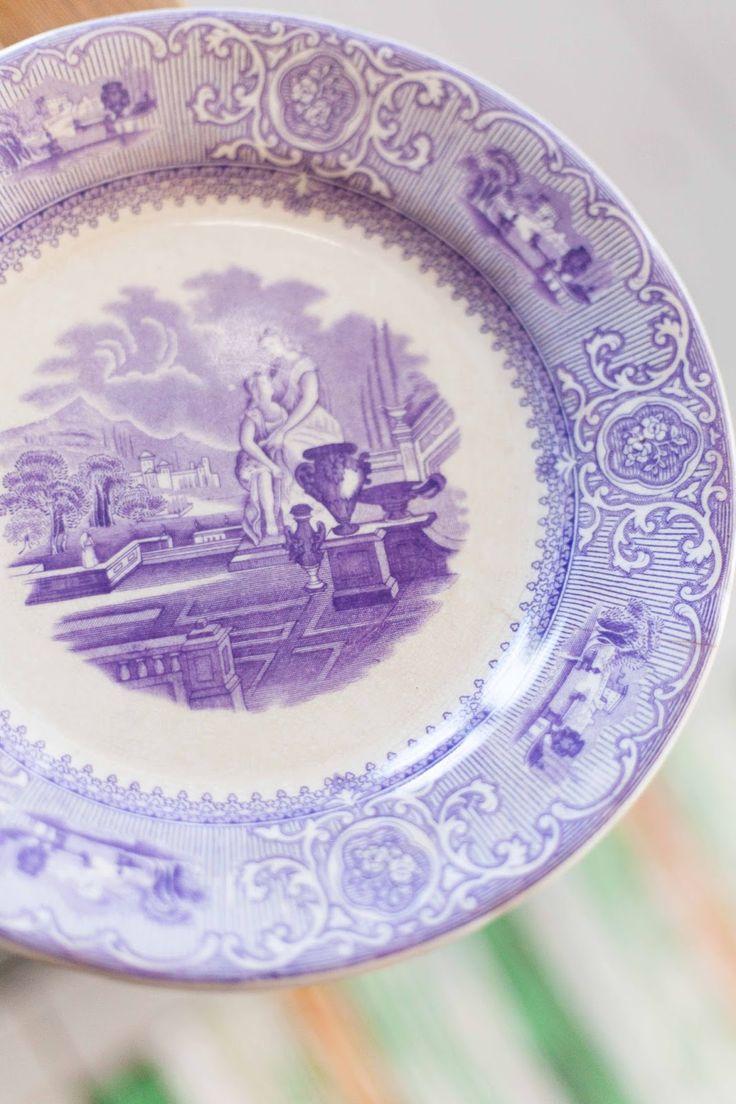 lavender purple toile transferware - photo #5
