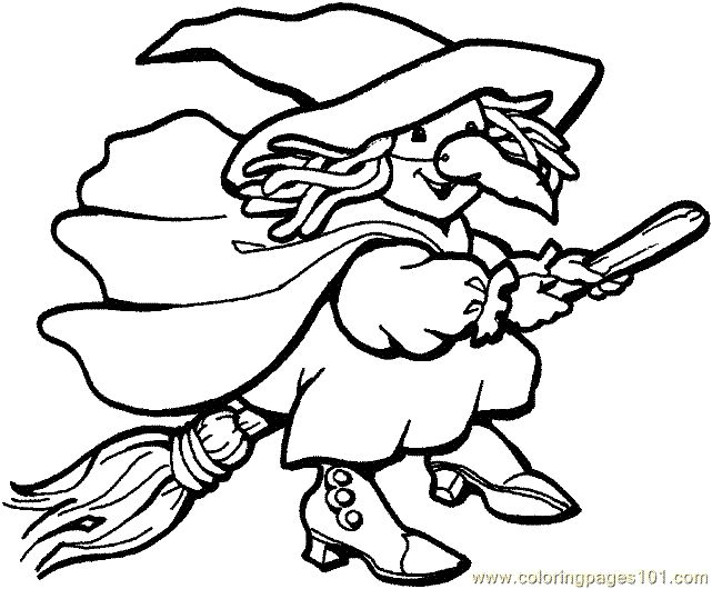 Click Witch Coloring Page For Printable Version