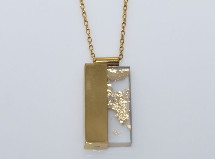 MELIO - Contemporary Jewelry Melio Jewels ~ LESS IS MORE goldplated silver necklace , plexiglas #unique #melio_jewels #goldplated #silver #necklace #plexiglas