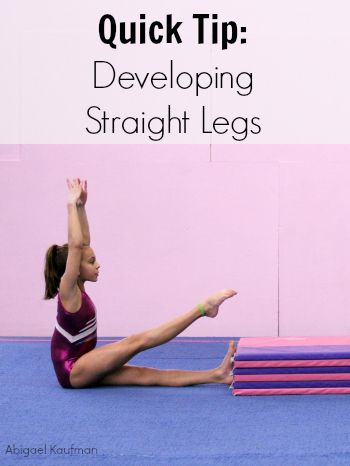 Not just useful for gymnasts. Will help keep your legs straight and toes pointed in jumps and your tumbling.