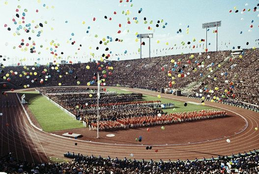 Opening Ceremonies Pictured here are the festivities at the opening ceremony of…