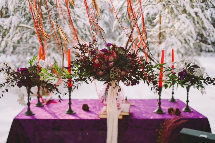 Bohemian wedding. Burgundy wedding bouquet, composed of Proteus, roses and other flowers. Registration was held under a beautiful branch, which we have decorated with floral decoration. Dreamcatchers also decorated the wedding in Boho style. Photographer Olga Platonova, florist and decorator Christine Ageeva, wedding planner Agency Only you.