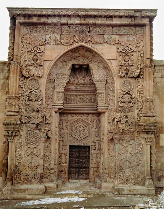 Ara Guler TURKEY. Divrigi. Entrance to Ulu Cami mosque 13th century). Selcuk designed entrance. 1983.