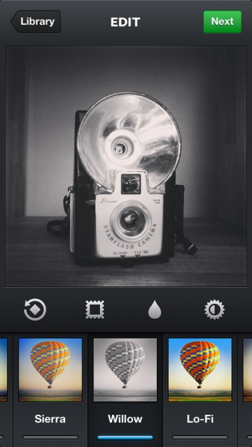 Instagram iOS 3.2 Update Redesigns Camera And Image Selector, Adds Monochrome Willow Filter (For AndroidToo) http://techcrunch.com/2012/12/10/instagram-willow/