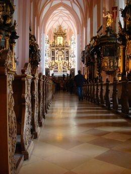Interior of wedding church, Mondsee - Sound of Music tour