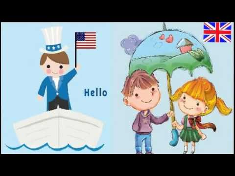 Hello to All the Children of the World SONG 1:30 cute song with hello in diff. languages