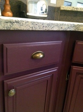 North Hollywood Kitchen - kitchen - los angeles - The Property Sisters #Brass #wine #cabinet color