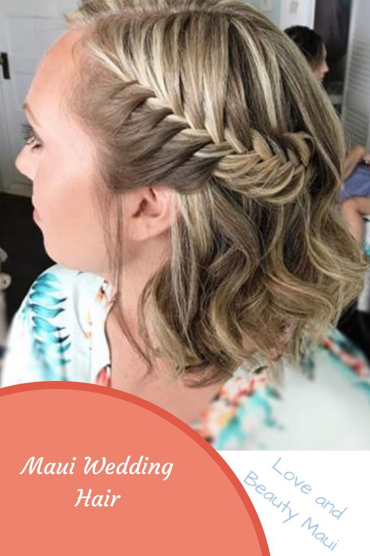 braided bridesmaid hairstyle for a maui wedding at the