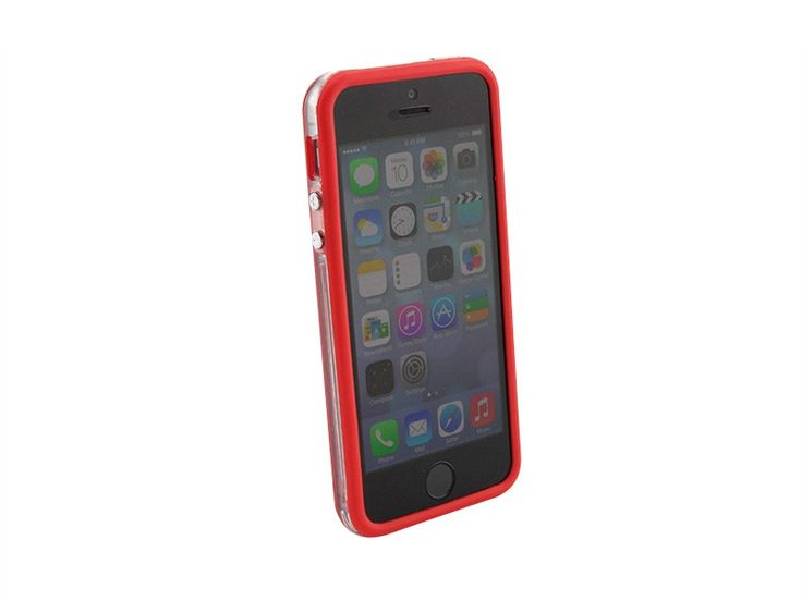 Bumper iPhone 5/5S transparant Rood